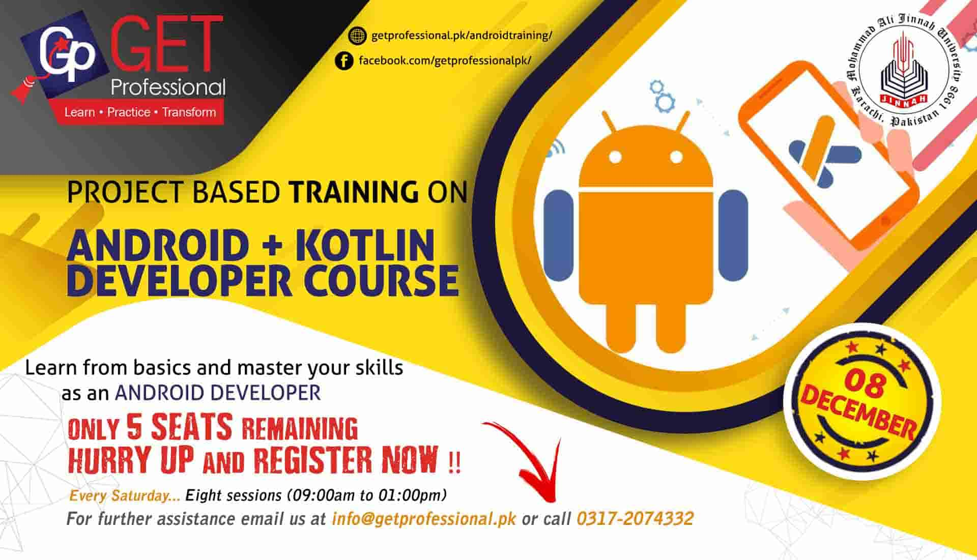 Android App Development on Kotlin Training course for Professionals